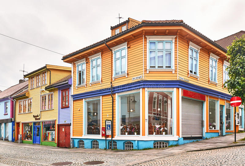Alla città d'angolo di Stavanger fotografia stock libera da diritti
