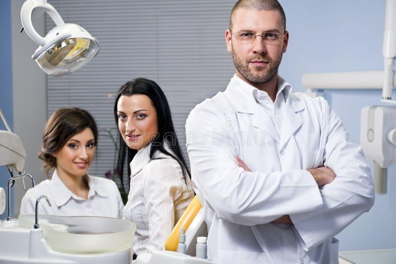 Alla clinica dentale fotografia stock libera da diritti