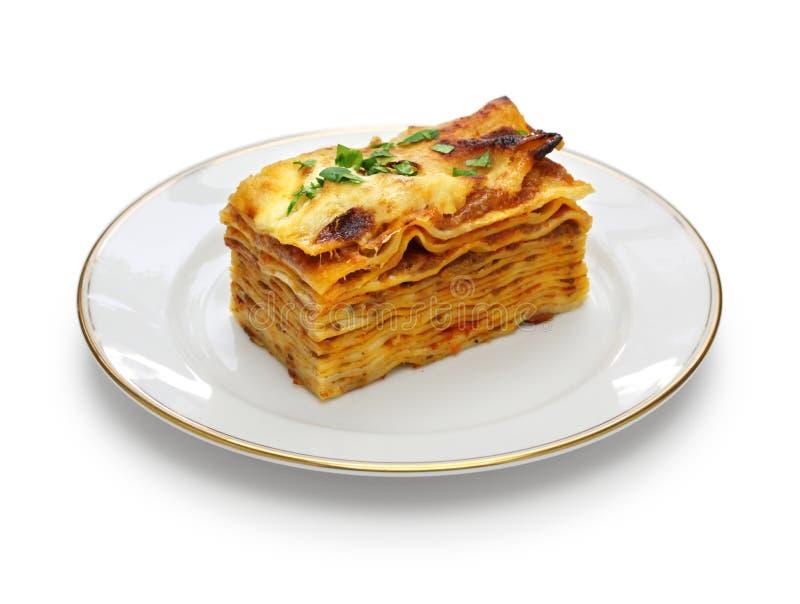 Alla de lasagne bolonais, cuisine italienne images libres de droits