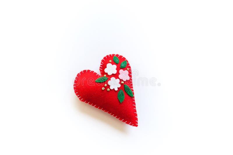 Alla hjärtans hjärta, som är gjort av kängdyngel Material för kreativitet royaltyfri foto