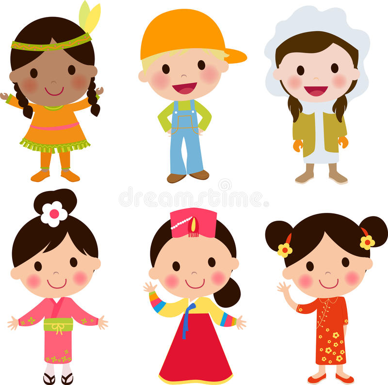 alla några objekt för ungar för den globala illustrationen för gemenskapelement individuella skalar formattexturer till vektorvär vektor illustrationer
