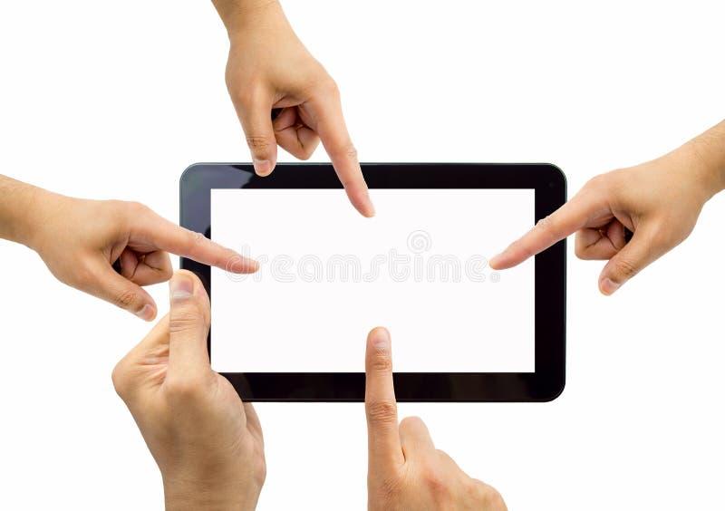 Alla personer som pekar minnestavlan arkivfoto