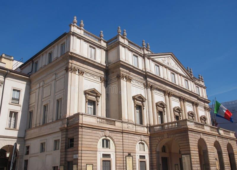 Alla Scala Milano di Teatro fotografia stock libera da diritti