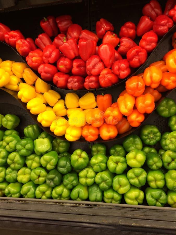 Alla spanska peppar färgar fotografering för bildbyråer
