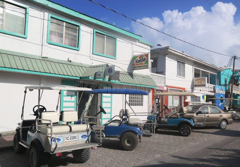 Alla via di San Pedro, Belize fotografia stock libera da diritti