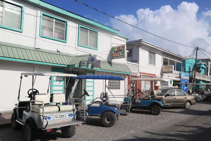 Alla via di San Pedro, Belize fotografia stock