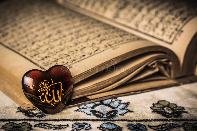 Allah god of Islam symbol koran background stock image