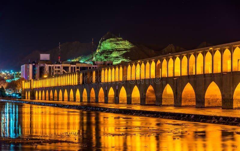 Allahverdi Khan Bridge (político do si-o-seh) em Isfahan fotografia de stock royalty free