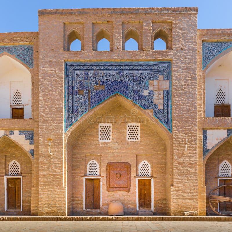 Allakuli Khan Madrasah, в Khiva, Узбекистан стоковое изображение