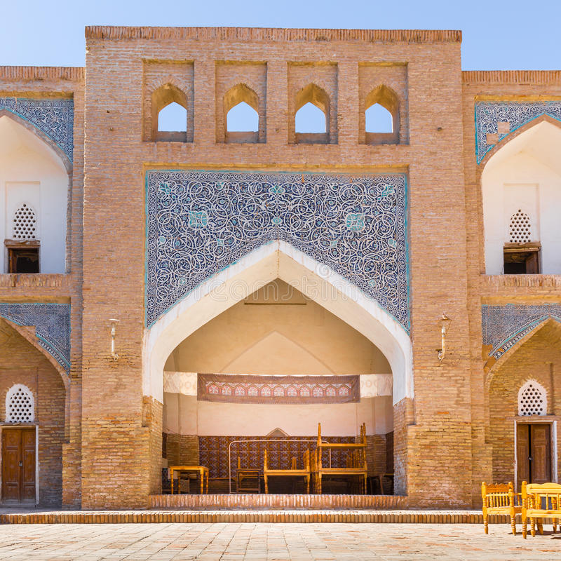 Allakuli Khan Madrasah, в Khiva, Узбекистан стоковая фотография