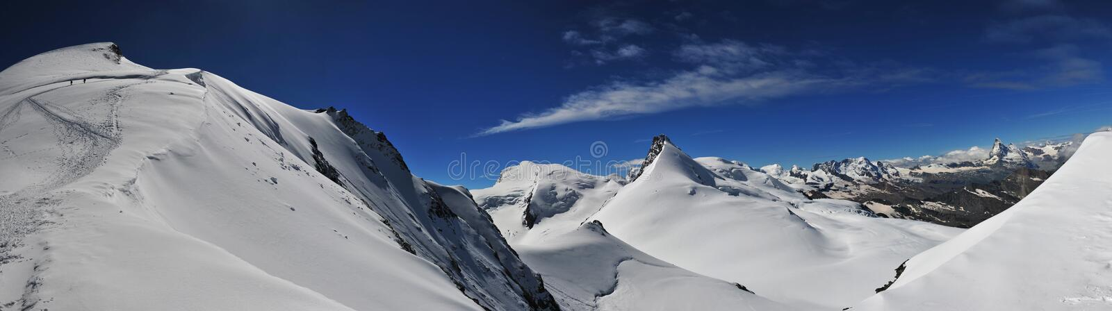 Allalinhorn and Rimpfischhorn royalty free stock images