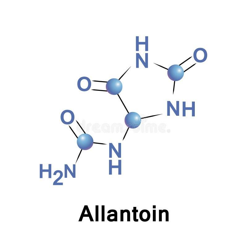 Allantoin glyoxyldiureide lub ureidohydantoin ilustracja wektor