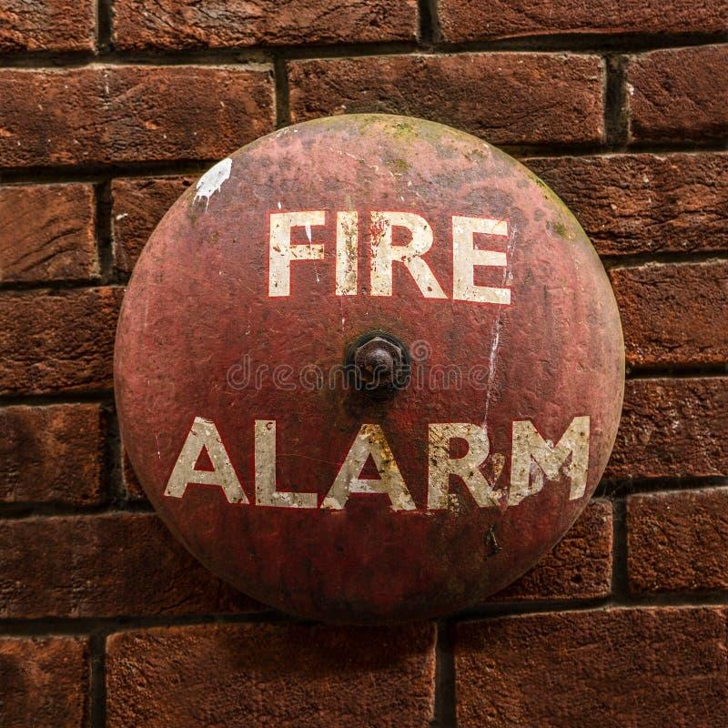 Allarme antincendio Bell d'annata fotografia stock libera da diritti