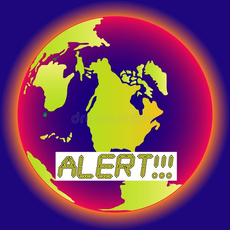Allarme! Arresti il riscaldamento! royalty illustrazione gratis