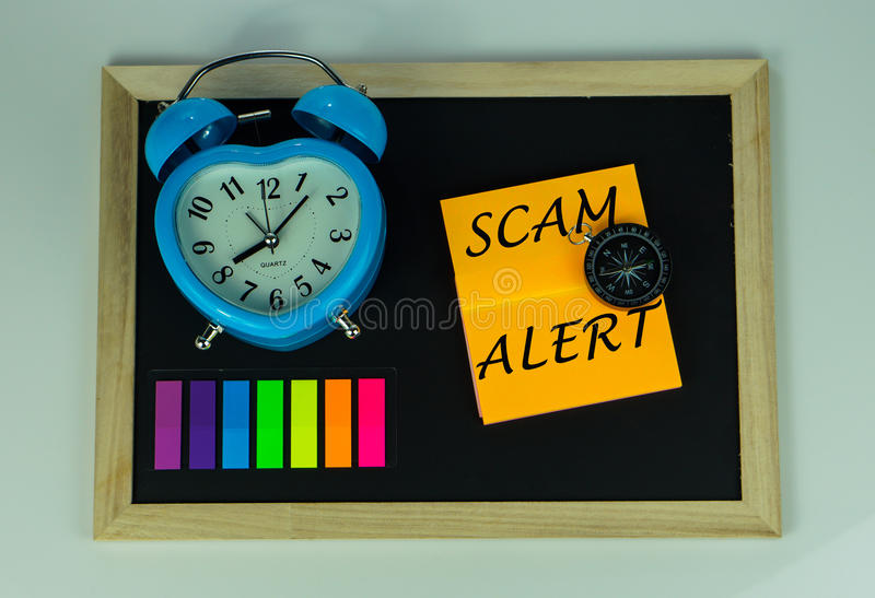 Allarme di Scam fotografie stock libere da diritti