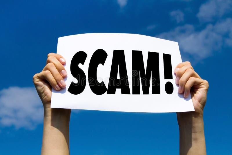 Allarme di Scam, concetto fotografie stock libere da diritti