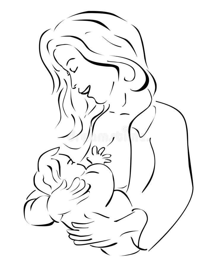 Allattamento al seno royalty illustrazione gratis