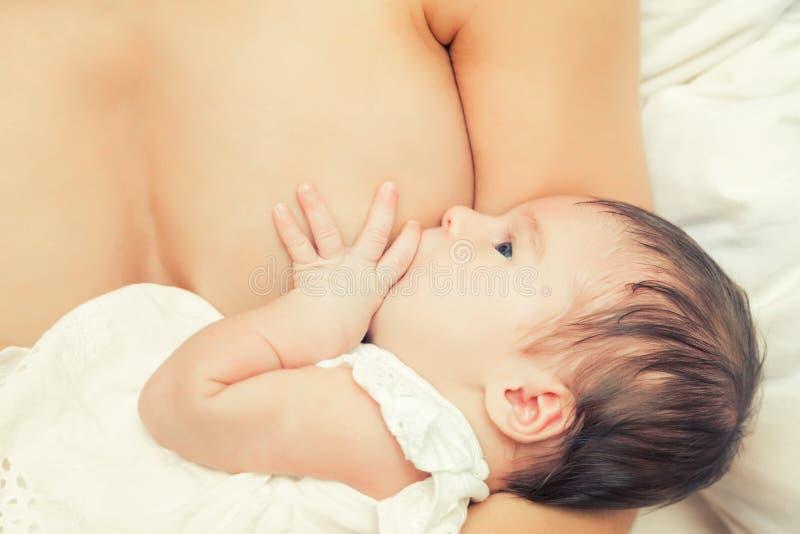 Allattamento al seno dell'infante immagini stock