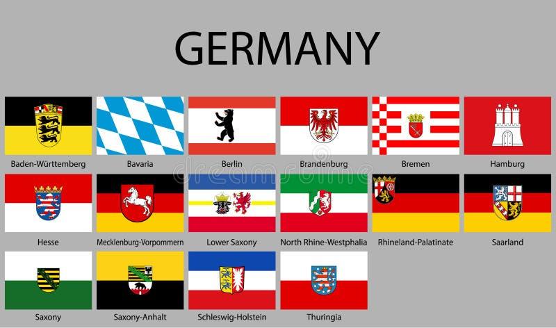 alle Arten der Flagge von Deutschland vektor abbildung