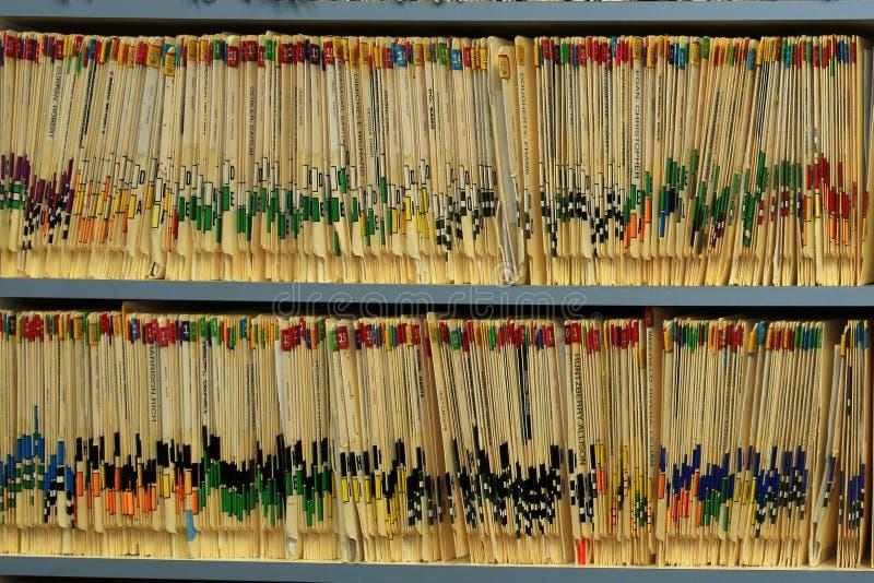 Alle Aufzeichnungen werden ordentlich gehalten lizenzfreie stockbilder