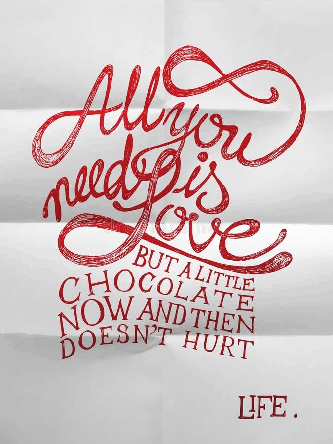 Alle, die Sie benötigen, ist Liebe lizenzfreie abbildung