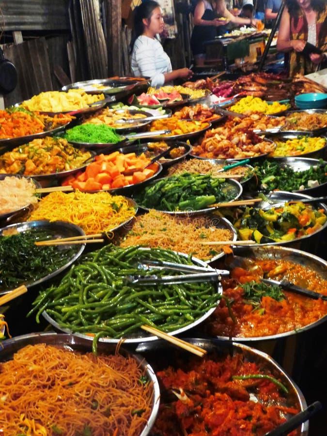 Alle, die Sie in Luang Prabang/in Laos essen können lizenzfreie stockbilder