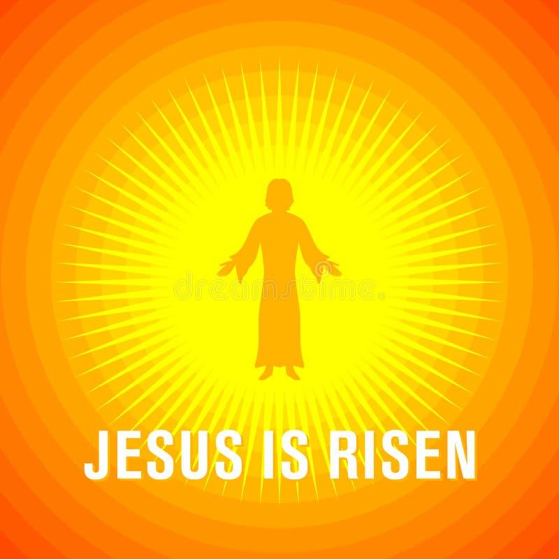 Alle EPS8, zerteilt geschlossen, Möglichkeit, um zu bearbeiten Jesus Christus wird gestiegen lizenzfreie abbildung