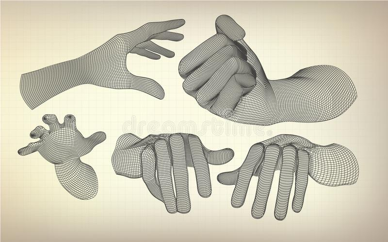 Alle handen vector illustratie