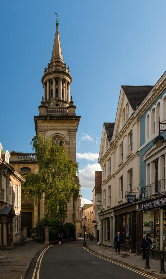 Alle Heiligen Kirche, Oxford lizenzfreies stockfoto
