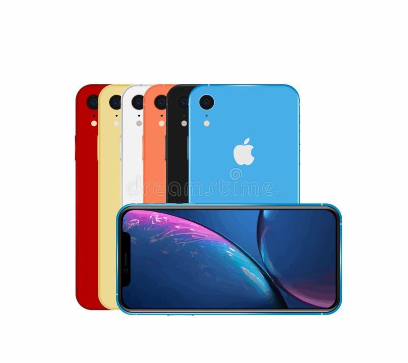 Alle kleuren IPhone XR royalty-vrije stock foto's