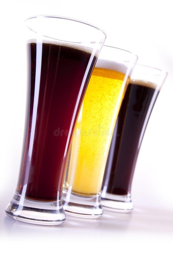 Alle kleuren van bier royalty-vrije stock fotografie