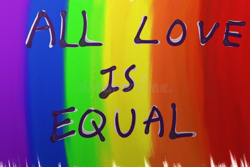 Alle Liebe ist gleich lizenzfreie stockfotos