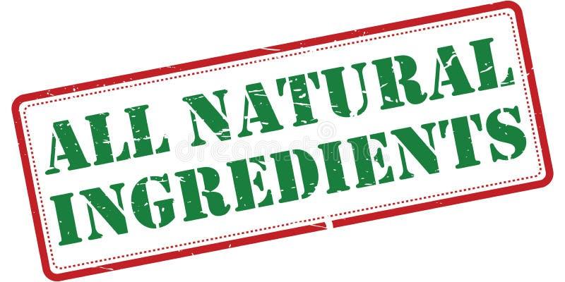 Alle natuurlijke ingrediënten stock illustratie