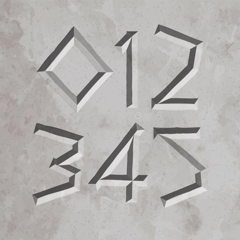 3647 alle römische Buchstaben lizenzfreie abbildung