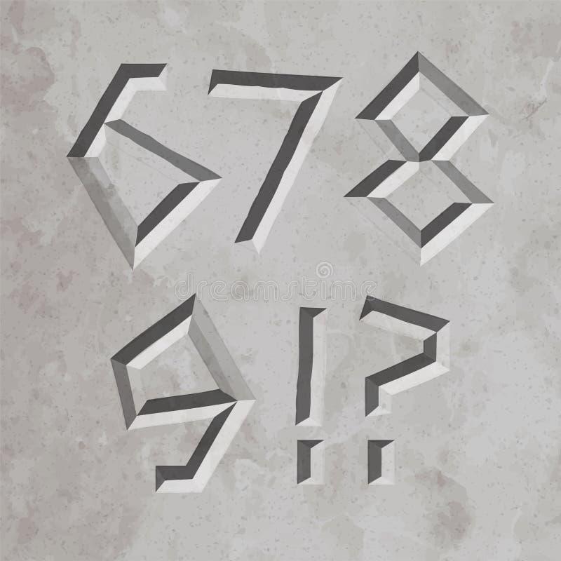 3647 alle römische Buchstaben vektor abbildung