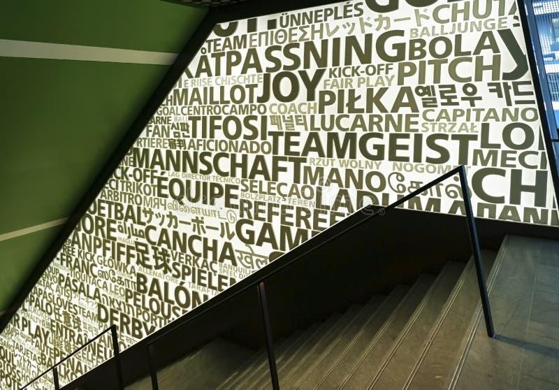 Alle scale del museo della FIFA immagini stock libere da diritti