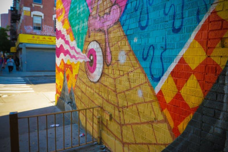 Alle sehenden Auge abstrakten Graffiti lizenzfreie stockbilder