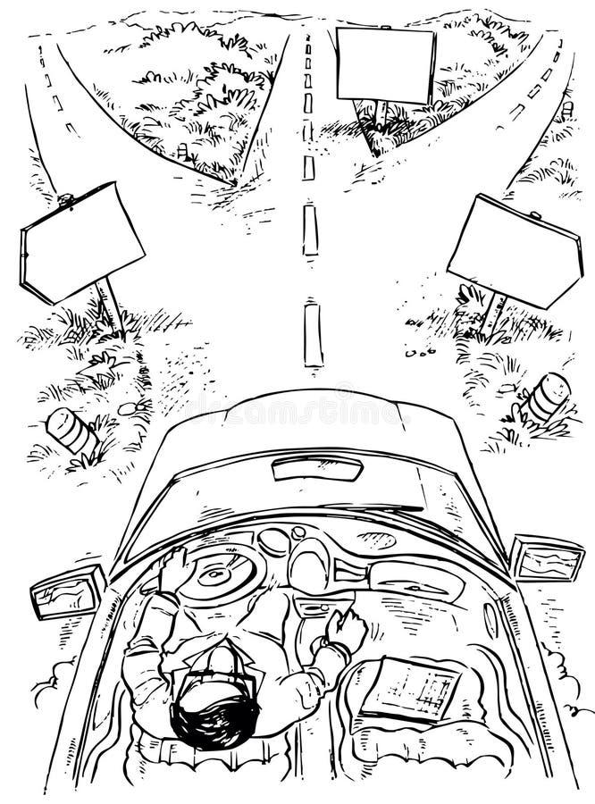 Alle strade trasversali illustrazione vettoriale