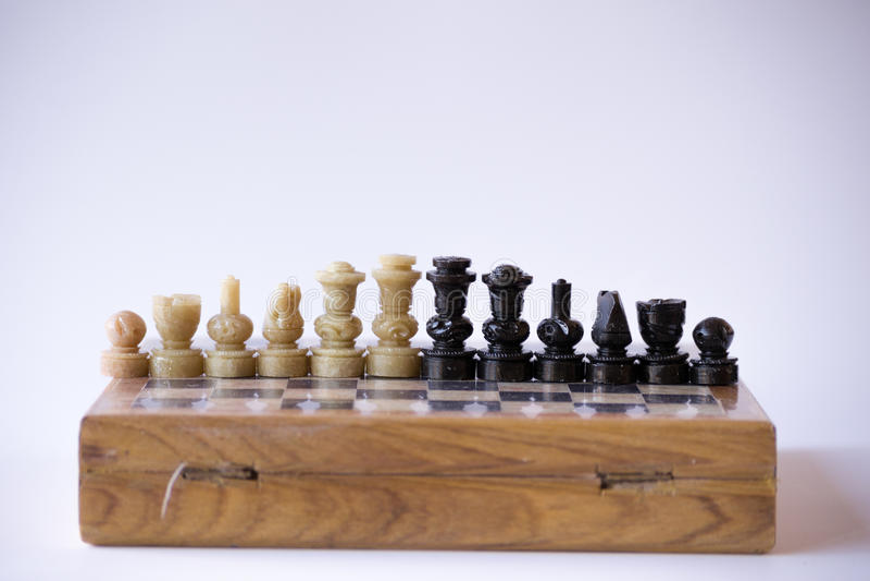 Alle stukken van een schaakreeks royalty-vrije stock afbeelding