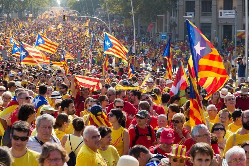 Alleato al 300th anniversario di perdita di indipendenza della Catalogna immagine stock libera da diritti