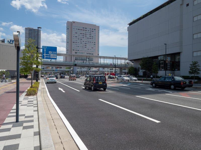 Allee Futaba Dori, Hiroshima, Japan lizenzfreie stockfotografie