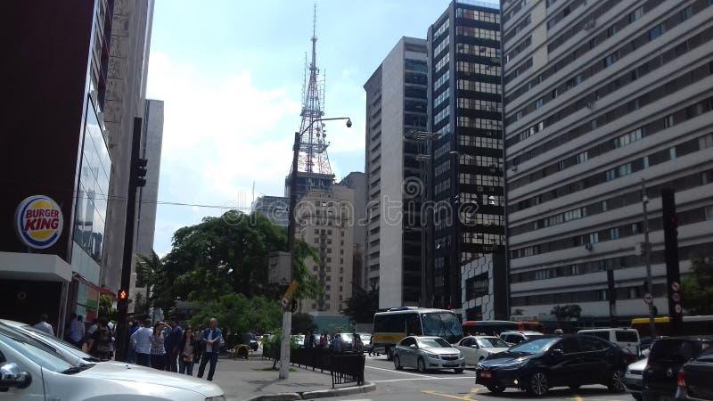Allee Paulista stockfotografie