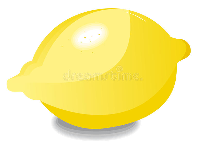 Alleen citroen royalty-vrije illustratie