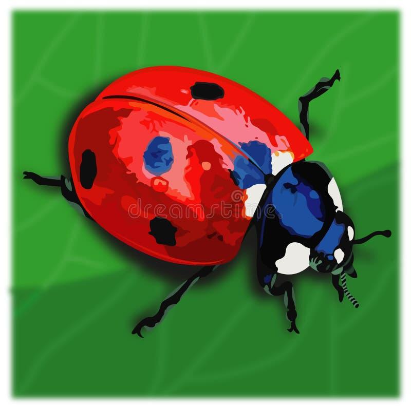 Alleen Lieveheersbeestjes royalty-vrije illustratie