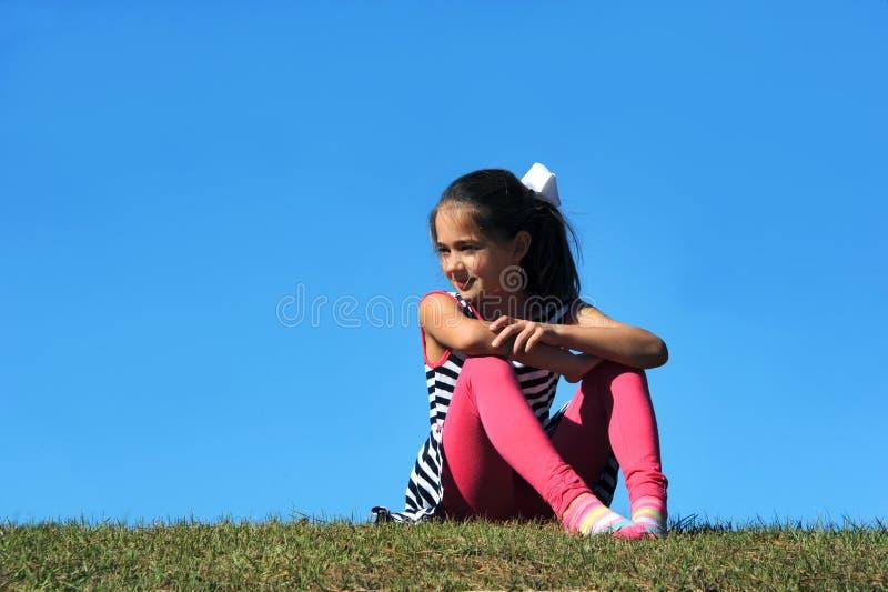 Alleen Tijd op een Heuveltop stock afbeelding