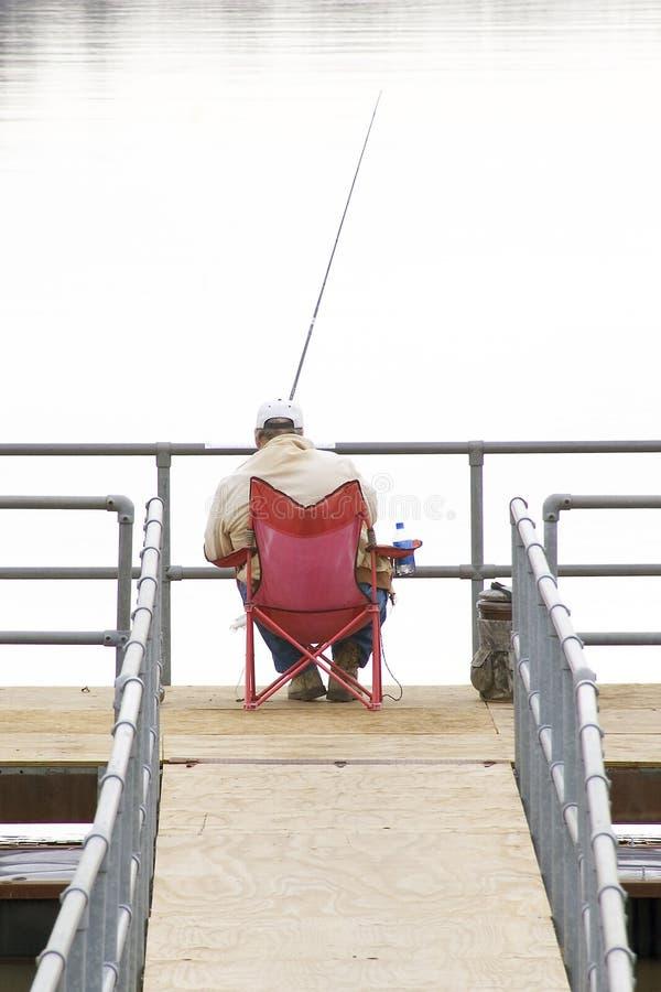 Alleen visserij royalty-vrije stock foto