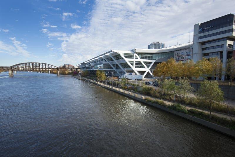 Allegheny河江边在匹兹堡,宾夕法尼亚 库存图片
