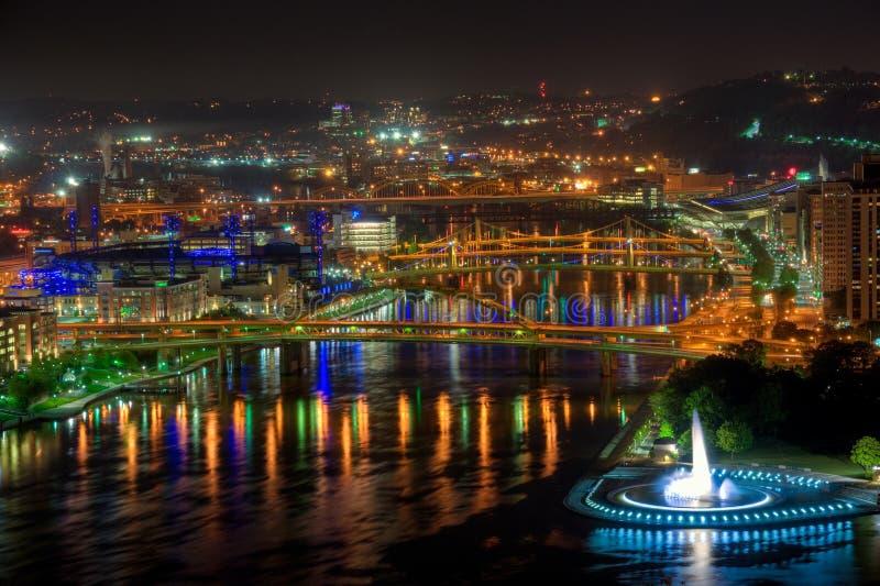 Allegheny-Fluss, Pittsburgh stockbild