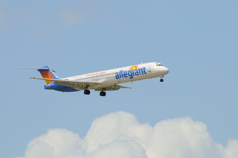 allegiant dc för 9 83 flygbolag royaltyfri foto