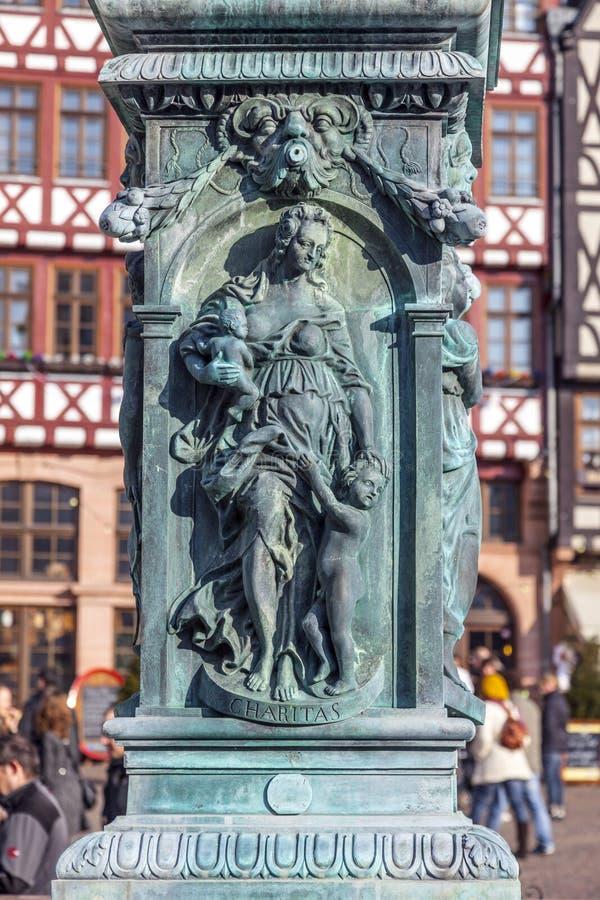 Allegoria del ferro alla fontana fotografia stock libera da diritti